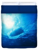 The Hull Of A Speed Boat Dingy Races Duvet Cover