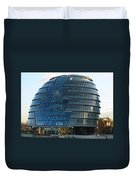 The Imposing Glass Greater London Mayoral Building On The Banks Of The Thames Duvet Cover