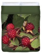The Invasive Wine Berry And Shield Bugs Duvet Cover