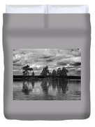 The Island In The Midlle In Bw Duvet Cover