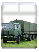 The Iveco M250 Used By The Belgian Army Duvet Cover