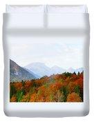 The Julian Alps In Autumn At Lake Bohinj Duvet Cover