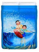 The Kayak Racer 10 Duvet Cover