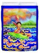 The Kayak Racer 12 Duvet Cover by Hanne Lore Koehler