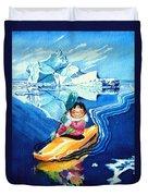 The Kayak Racer 13 Duvet Cover by Hanne Lore Koehler