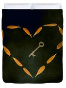 The Key To My Heart Duvet Cover