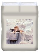 The King At Rest Duvet Cover