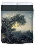 The Lake Of Albano And Castle Gandolfo  Duvet Cover