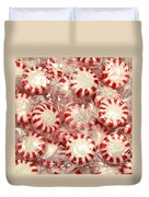 The Land Of Peppermint Candy Square Duvet Cover