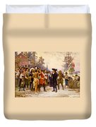 The Landing Of William Penn, 1682 Duvet Cover