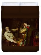 The Last Moments Of Christopher Columbus  Duvet Cover by Claude Jacquand