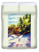 The Last Traces II Duvet Cover