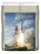The Launch Of The Mercury-atlas 4 Duvet Cover