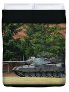 The Leopard 1a5 Main Battle Tank In Use Duvet Cover by Luc De Jaeger