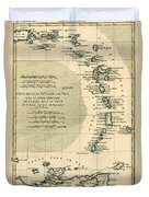 The Lesser Antilles Or The Windward Islands Duvet Cover by Guillaume Raynal