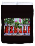 The Locked Bicycle - New Orleans Duvet Cover