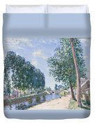 The Loing Canal At Moiret Duvet Cover