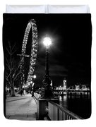The London Eye At Night Duvet Cover