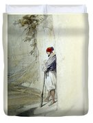 The Lonely Man Duvet Cover