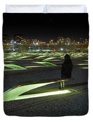 The Lonely Tourist At Pentagon Memorial Duvet Cover