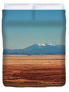The Long Road To The Meteor Crater In Az Duvet Cover