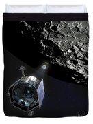 The Lunar Crater Observation Duvet Cover