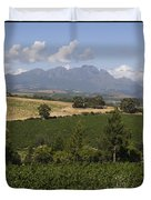 The Lush Garden Landscape Of A Vineyard Duvet Cover