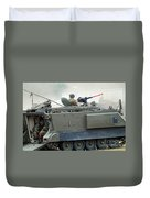 The M113 Tracked Infantry Vehicle Duvet Cover by Luc De Jaeger