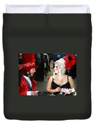 The Mad Hatter And The Red Queen Duvet Cover