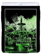 Green Savannah Duvet Cover