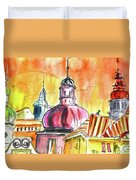 The Magical Roofs Of Prague 01 Bis Duvet Cover