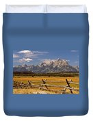 The Majestic Tetons Duvet Cover