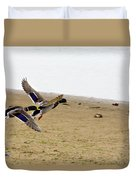 The Mallard Ducks Flight Duvet Cover