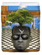 The Man And The Tree  Duvet Cover