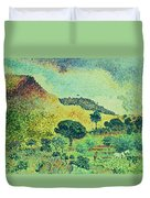 The Maures Mountains Duvet Cover by Henri-Edmond Cross