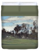 The Meadow Lined With Trees  Duvet Cover
