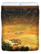 The Meteor Crater In Az 1 Duvet Cover
