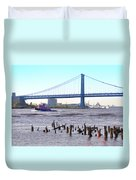 The Mighty Delaware River Duvet Cover