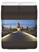 The Millennium Bridge Looking North Duvet Cover