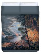 The Mississippi In Time Of War Duvet Cover