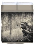 The Monkey And Butterfly Duvet Cover