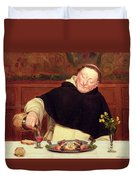The Monk's Repast Duvet Cover