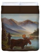 The Mountain Moose Duvet Cover