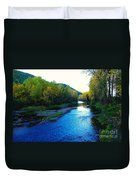 The Moyie River Near Yak B C Duvet Cover