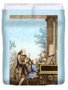 The Mozart Family On Tour 1763 Duvet Cover