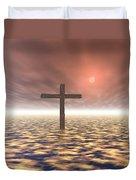 The Mystery Of The Cross Duvet Cover