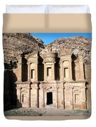 The Nabateian Temple Of Al Deir Duvet Cover
