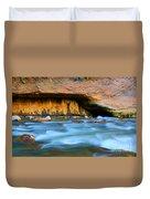 The Narrows Virgin River Zion 4 Duvet Cover
