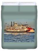 The Natchez Riverboat Duvet Cover