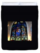 The Nativity Stained Glass Duvet Cover